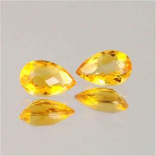 2.25 Carat Yellow Color Natural Pear Citrine Loose