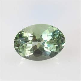 6.08 Ct Natural Green Amethyst Oval Cut