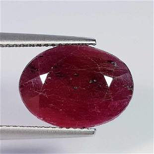 7.84 Ct Natural Ruby Heated Oval Cut