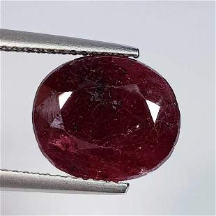 7.35 Ct Natural Ruby Heated Oval Cut