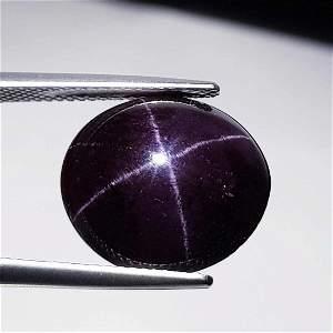 25.53 ct Natural Four Ray Star Garnet