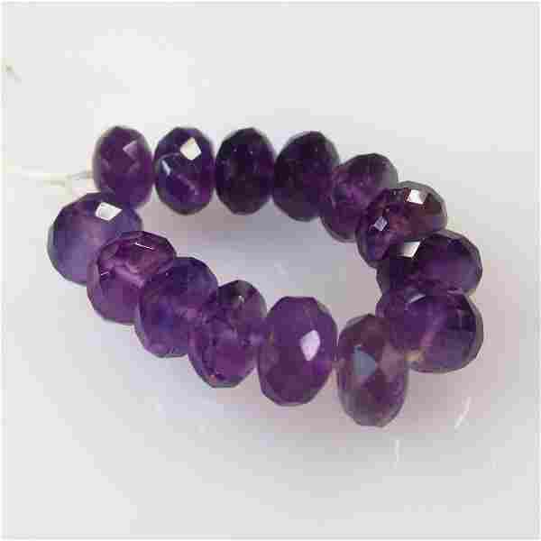 21.47 Ct Natural 14 Drilled Purple Amethyst Round Beads