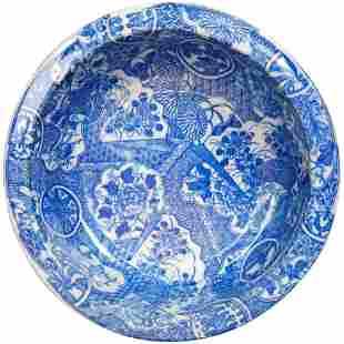 Japanese Porcelain Igezara Transferware bowl circa 1900