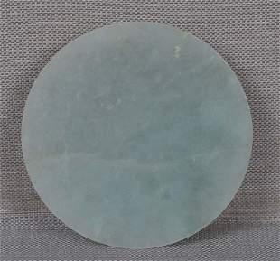 19c Chinese jadeite SNUFF bottle SAUCER / DISH