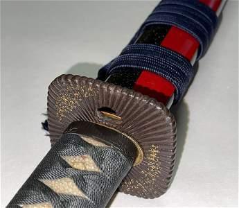 Gold inlay 2 body cutting test Katana Sword 2tsu Do