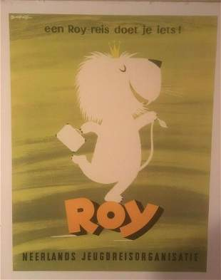 "Original Vintage c.1960 ""Roy"" Dutch Youth Group Poster"