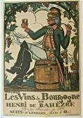 Original Vintage c.1920 Vins de Borugogne French Wine