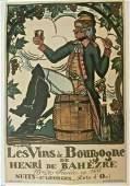 Original Vintage c.1920 Vins de Borugogne French Wine
