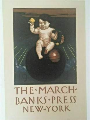 Original Vintage 1923 The Marchbank Press New York