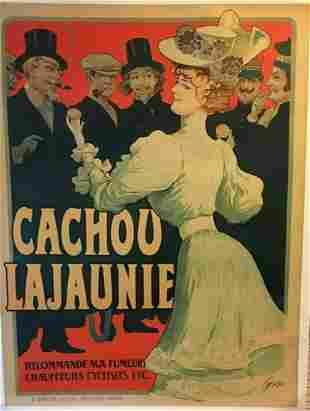 Original Vintage c.1900 Cachou Lajounie Tomagno Poster
