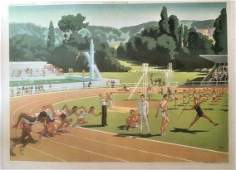 Original Vintage c.1940 French Educational Poster Linen