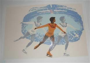 Original Vintage 1980 Lake Placid Olympic Skating