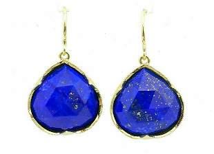 Irene Neuwirth Lapis Yellow Gold Drop Earrings