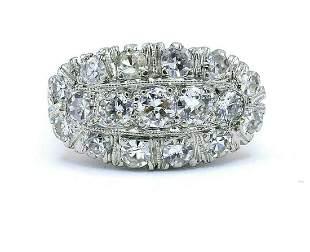 Diamond Platinum Yellow Gold Vintage Ring