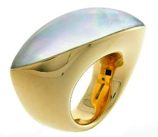 Vintage Vhernier Fuseau Yellow Gold Cocktail RING