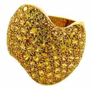 Vintage VAN CLEEF & ARPELS Yellow Sapphire Gold RING