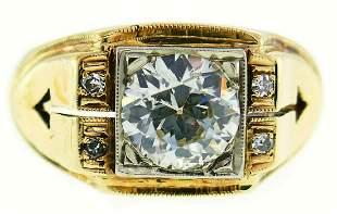 Victorian Old European Cut Diamond Gold RING