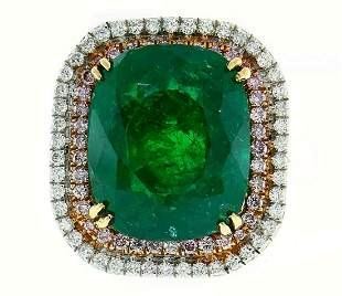 Emerald Diamond Gold RING by Lorraine Schwartz 10.50-ct