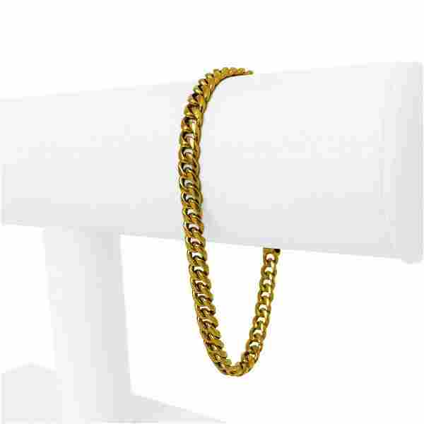 24k Pure Yellow Gold 20.4g Solid Ladies 5mm Curb Link
