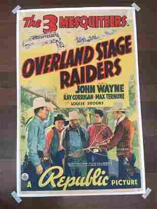 Overland Stage Raiders - John Wayne (1938) US One Sheet
