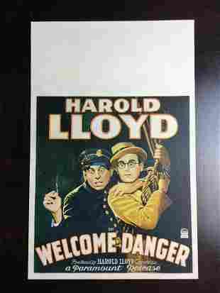Welcome Danger - Harold Lloyd (1929) US Window Card