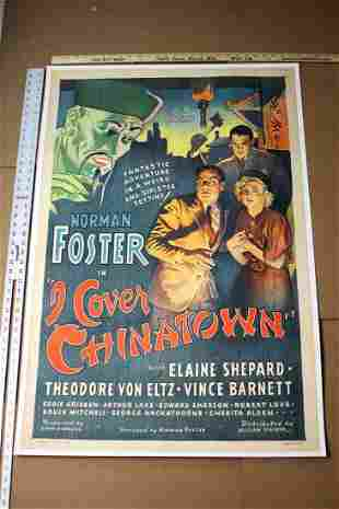 I Cover China Town (1936) US 1 SH Movie Poster LB