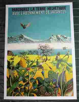 """Parcourez la Terre Helvétique (France, 1940) 39.5"""" x"""