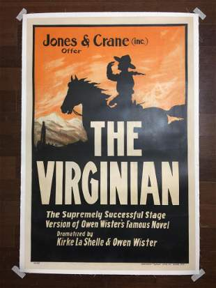 The Virginian (1903) US One Sheet Stage Play Poster LB
