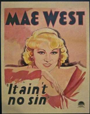 It Ain't No Sin - Mae West (1934) US Window Card Movie