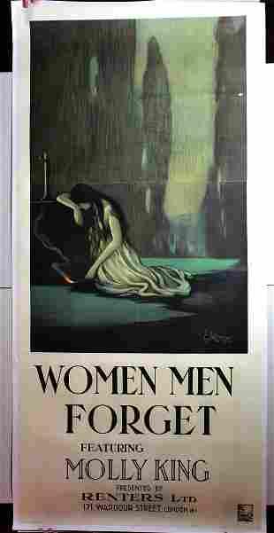 Women Men Forget (1920) UK Three Sheet Movie Poster LB