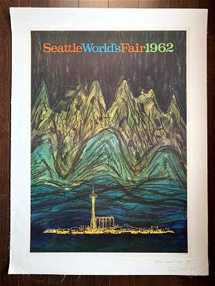 Seattle World's Fair - Space Needle - Art by James