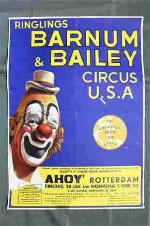 "Barnum & Bailey (1964) 16.25"" x 23.325"" Dutch Circus"