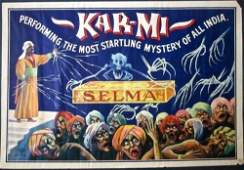 Kar-Mi (1916) Indian Newspaper Magic Poster