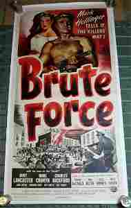 Brute Force (USA, 1947) US Three Sheet Movie Poster LB