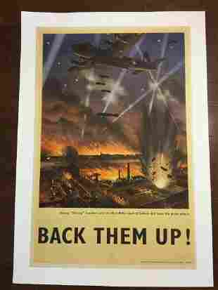 Back Them Up! - Bombers - Art by Roy Nockolds (1942)