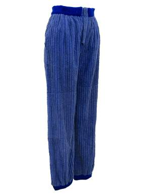Blue wide whale corduroy pants