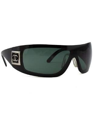 Chanel Black Wrap Around Sunglasses