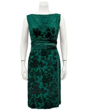Anonymous  Green Dress and Jacket Ensemble
