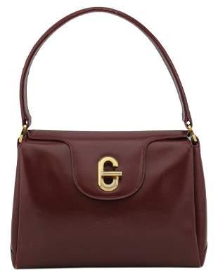 Gucci Bordeaux Leather Top Handle Bag