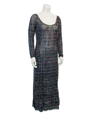 Giorgio Armani Black net beaded gown