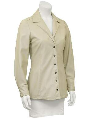 Anne Klein Beige Leather Jacket