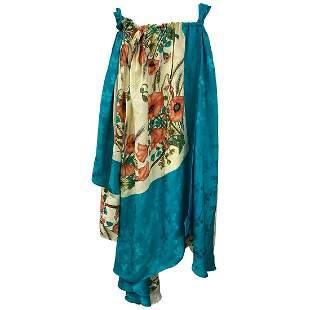 Gucci Multicolor Silk Floral Maxi Dress Size 40