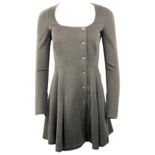 Proenza Schouler Black Wool Mini Coat Dress w/ Buttons