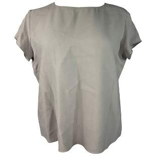 The Row Grey Short Sleeves Blouse Top Size 6