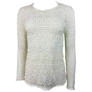 Isabel Marant White Cotton Long Sleeve Top SIze 42