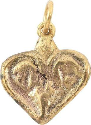 FINE VIKING HEART NECKLACE 9TH-10TH CENTURY AD