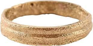 RARE VARIATION VIKING WEDDING RING, SIZE 3 ¼
