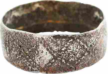 DOUBLY RARE VIKING RING 9th-11th CENT AD SZ 5