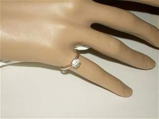 Vintage 14kt CZ Engagement Ring, CZ Solitaire, .33 ctw.