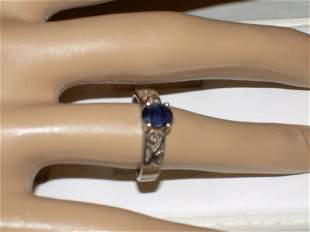 Sterling Silver Lapis Ring - Size 7 - Vintage